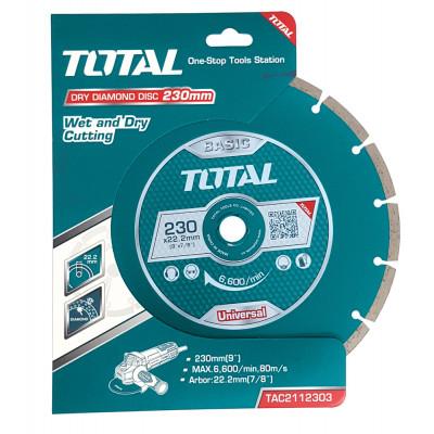 Ալմաստե սկավառակ 230 մմ TOTAL TAC2112303  (ԿՈԴ 4202)
