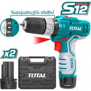 TOTAL TIDLI1232 Պտուտակադարձիչ հարվածային 12 վ, 2 մարտկոցով  (ԿՈԴ 14509)