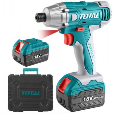 TOTAL TIDLI228181 Պտուտակադարձիչ հարվածային 18V, 2 մարտկոցով (ԿՈԴ 15192)