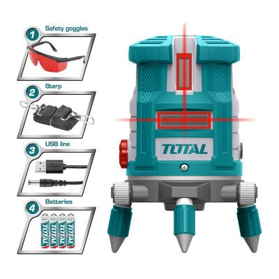 TOTAL TLL306505 Լազերային հարթաչափ կարմիր (ԿՈԴ 16700)