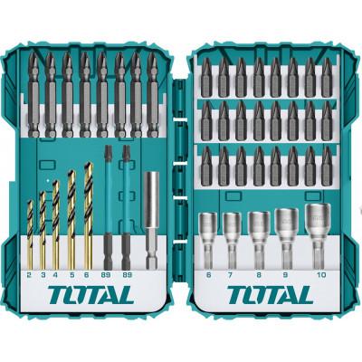 TOTAL TACSDL24502 Հարվածային պտուտակադարձիչի գլխիկների հավաքածու 45կտոր (ԿՈԴ 16662)