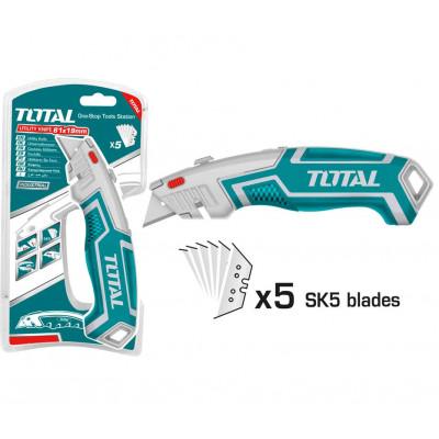 Դանակ գիպսաստվարաթղթի 180×45մմ TOTAL THT5116118 (ԿՈԴ 16832)