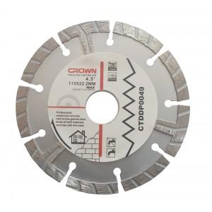 Ալմաստե կտրող սկավառակ Crown CTDDP0049 115X22.2mm