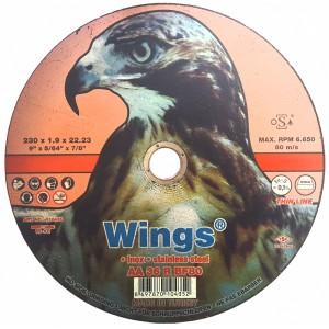 Մետաղ կտրող սկավառակ Wings 230x1.9x22.23