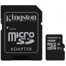 Հիշողության քարտ Micro SD Card Kingston SDC10/16GB (16GB, Class 10)