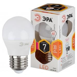 LED P45-7W-827-E27 ЭРА (դեղին) (ԿՈԴ S162)