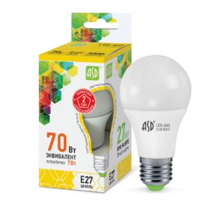 Լամպ LED-A60-STD 7W 230V Е27 3000К 630LM ASD
