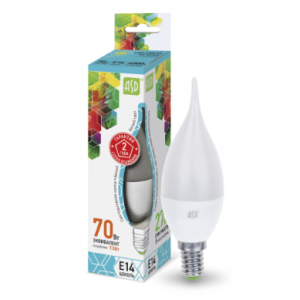 Լամպ LED-մոմիկ-STD 7.5W 230V E14 4000K 675LM ASD