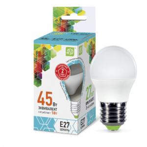 Լամպ LED-STD 5W 230V Е27 4000К 450LM ASD