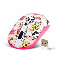 Անլար մկնիկ Crown CMM-926W USB Cow White-Pink