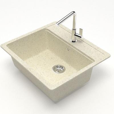 խոհանոցի լվացարան Gunther 570x505x200 մմ,բեժ,անփայլ (ԿՈԴ 3139)